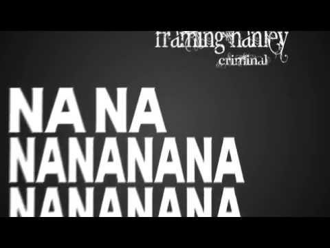 Framing Hanley - Criminal lyric video