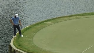 Richard H. Lee misfires twice on No. 17 at THE PLAYERS