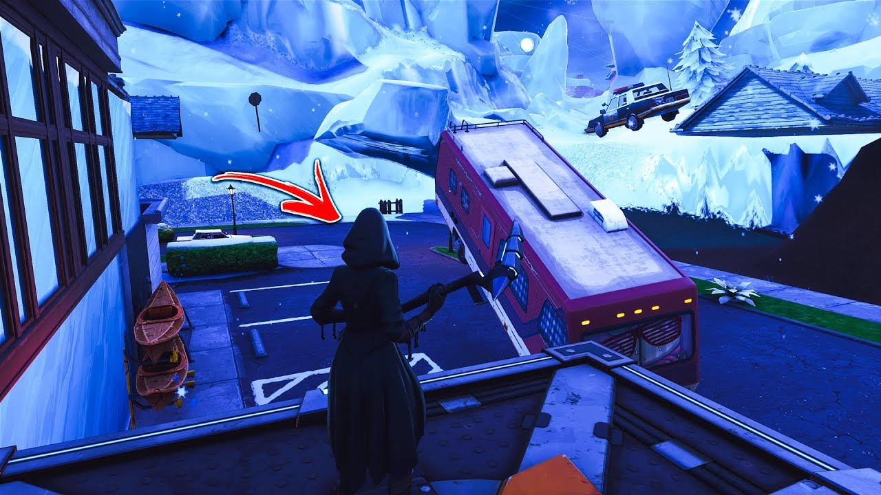 How to get INSIDE FROZEN GREASY GROVE by using this glitch in Fortnite! (Fortnite Under Map Glitch)