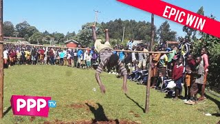Funny Kenyan high school high jump