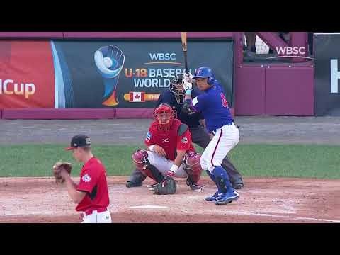 Highlights: Chinese Taipei v Canada - WBSC U-18 Baseball World Cup 2017