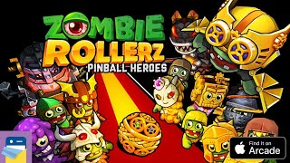 Zombie Rollerz: Pinball Heroes - Apple Arcade iOS Gameplay Walkthrough Part 1 (by Firefly Games)