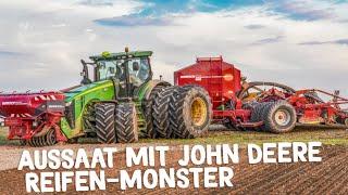 JOHN DEERE & CLAAS Traktoren in Action | Mehr Gummi auf den Achsen geht nicht!