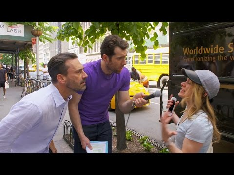 Billy on the Street: Would You Have A Threesome with Billy and Jon Hamm?