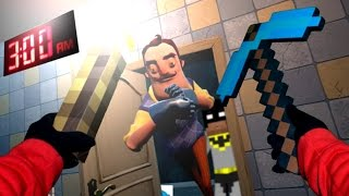 Realistic Minecraft: Do NOT go to the Hello Neighbor house at 3:00 AM