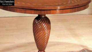 Traditional Round Beech Coffee Table