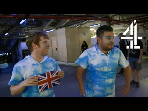 Alex Brooker & Josh Widdicombe Dancing in the Rio Paralympics Opening Ceremony   The Last Leg