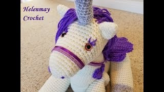 Amigurumi Örgü Tek Boynuzlu At ( Unicorn ) Yapılışı ( Anlatımlı ... | 180x320