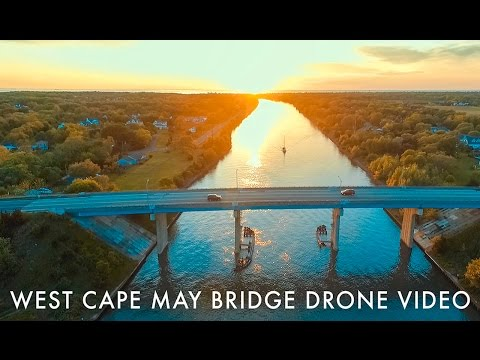 West Cape May Bridge Drone Video