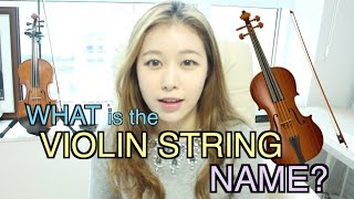 What is the violin string name?