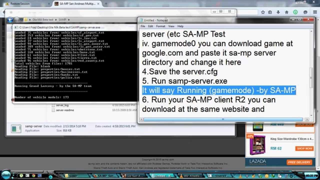 How to create a SAMP server Ready-made servers SAMP (SAMP)