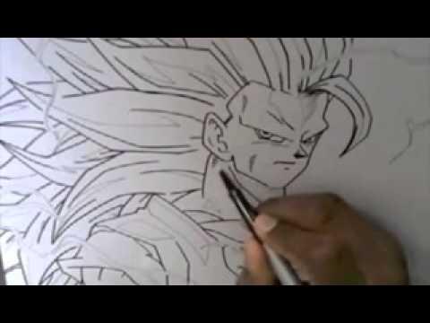 como desenhar o goku ssj 3 youtube