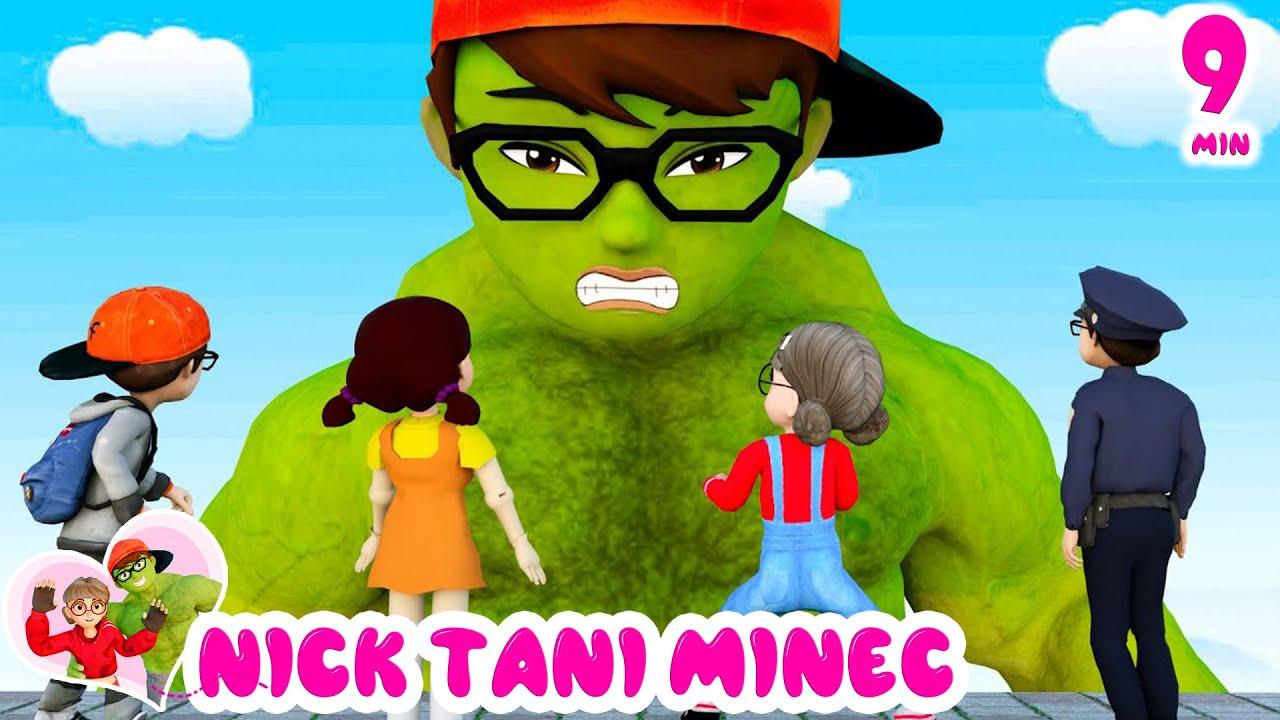 SpiderNick vs NickHulk True Friendship   Scary Teacher 3D Family Zombie Rubber Man Escape Animation