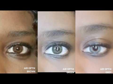 Try•On: Air Optix Colors on Darkskin&Darkeyes👀