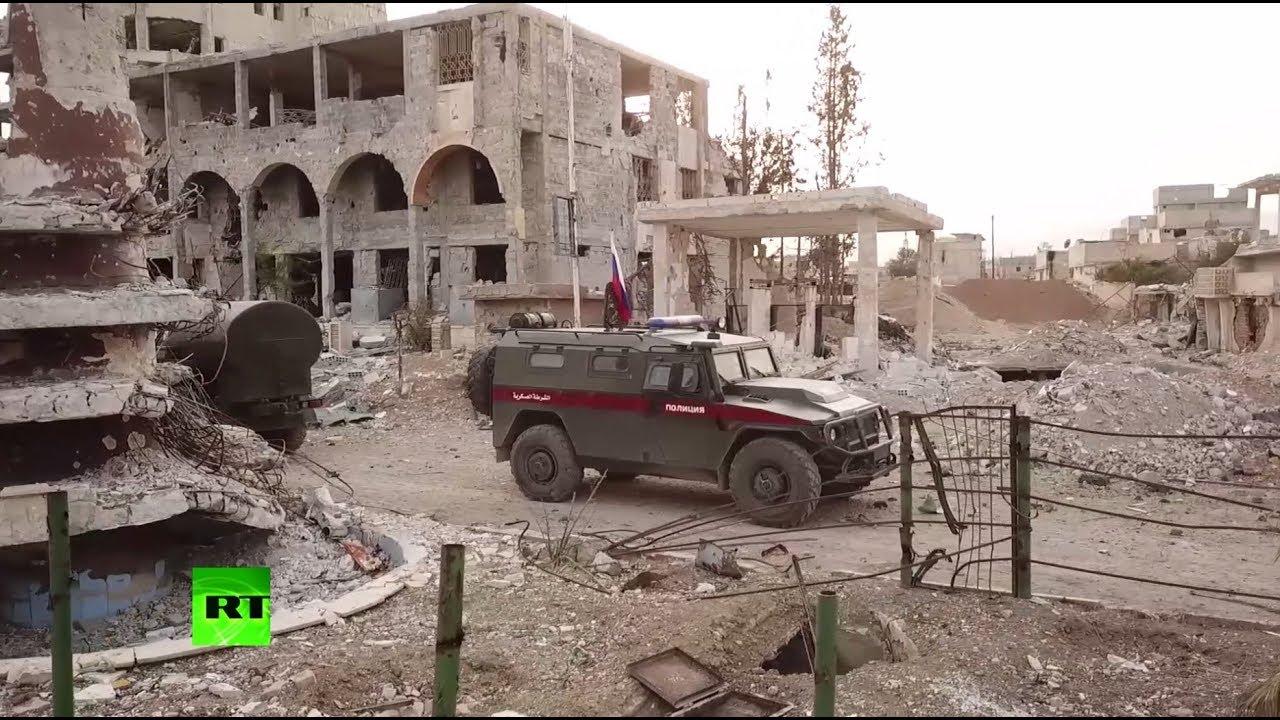 В сирийском городе Дума приступила к работе российская военная полиция