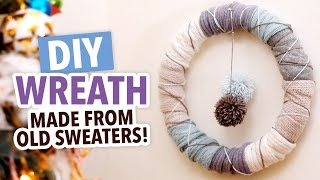 DIY Upcycled Wreath Made From Old Sweaters - HGTV Handmade