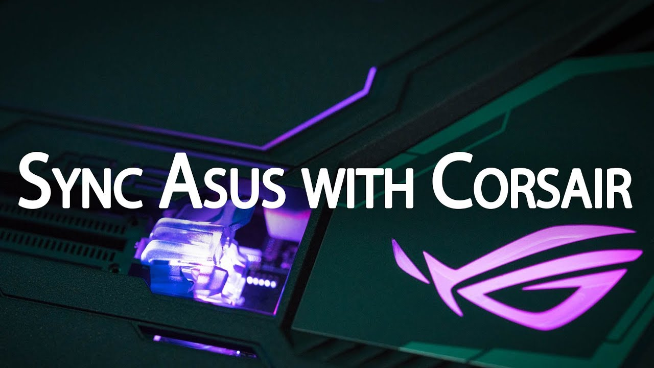 Synchronize Asus devices with Corsair iCUE devices