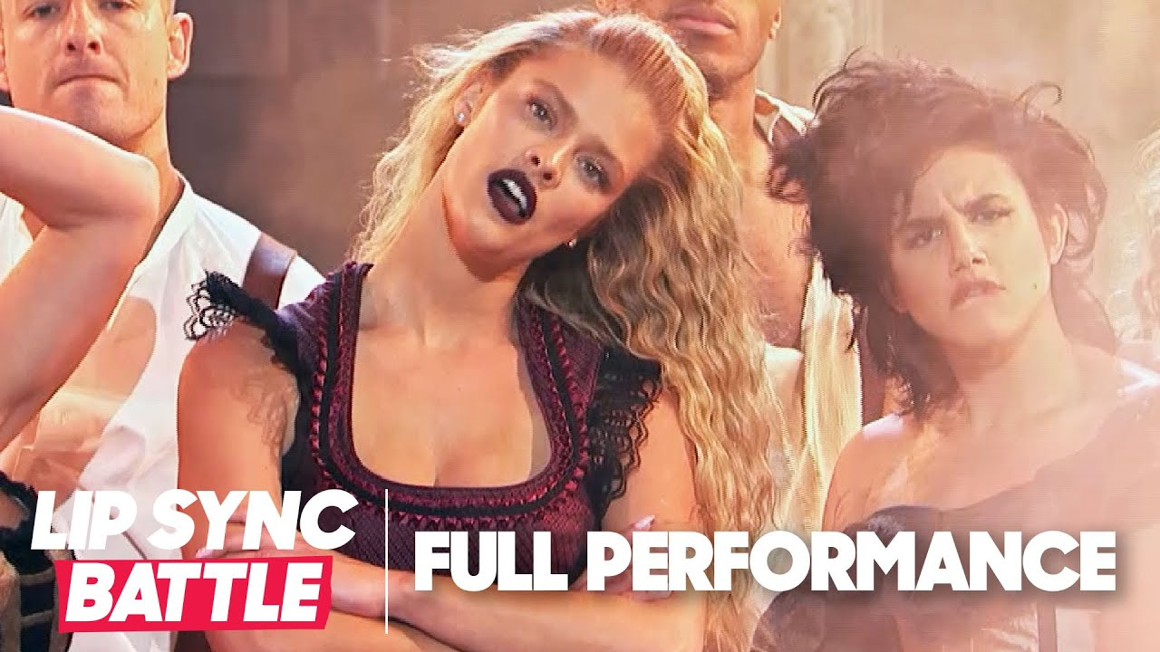 "Nina Agdal Performs ""My Humps"" & ""Lose Control"" 