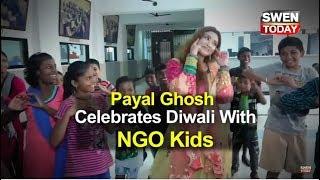 Payal Ghosh celebrates Diwali with NGO kids