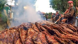 Pork Ribs Festival. Huge Italian Street Food Event