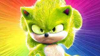 Sonic CHANGES COLOR 😜 Sonic Collection Miles Tails Prowers Knuckles animation color mix-up