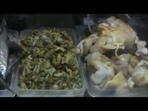 Seafood market in Quito, Ecuador.
