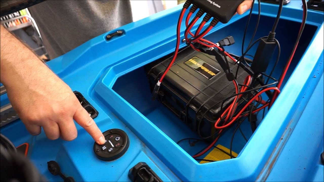 super easy yak power electrical system install on a bonafide kayak [ 1280 x 720 Pixel ]