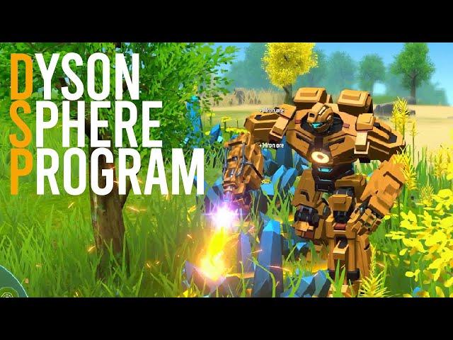 Dyson Sphere Program - Base Building Robot Makes a Spaghetti Factory Mess [EP 1]