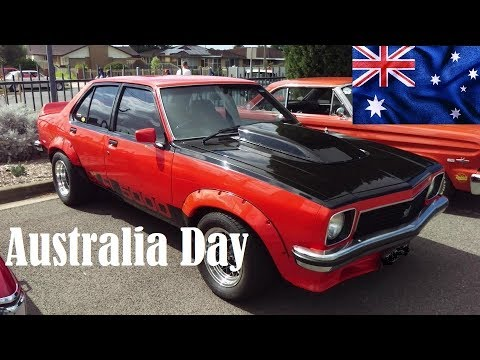 Aussie Muscle cars, Classic cars  Kevs Australia Day Holden Ford Valiant Car show