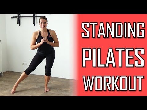 20 Minute Standing Pilates Workout for Toning Muscles – At home with No Equipment