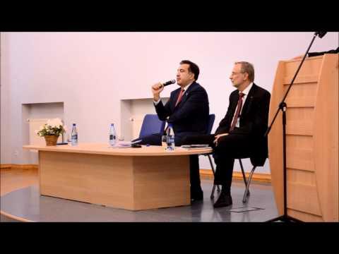 Mikhail Saakashvili in Riga