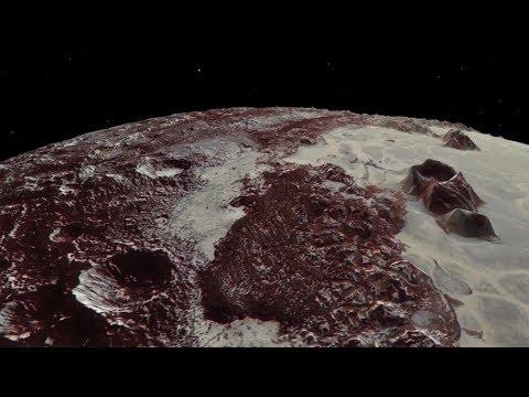 Neue Perspektive: Virtueller Flug über Pluto