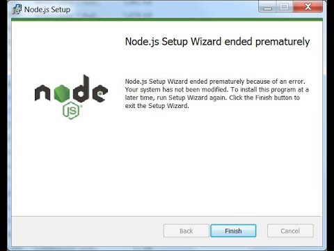 Fix: Node.js Setup Wizard ended prematurely