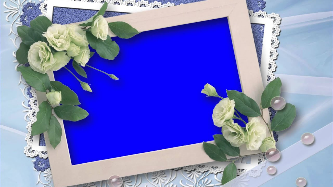 Beautiful Wedding Photo Design In Blue Screen Free Stock Footage Fresh Designs