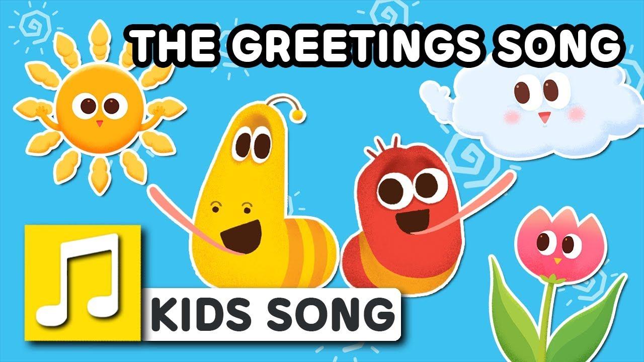 THE GREETINGS SONG | LARVA KIDS | BEST NURSERY RHYME | FAMILY SONG ...
