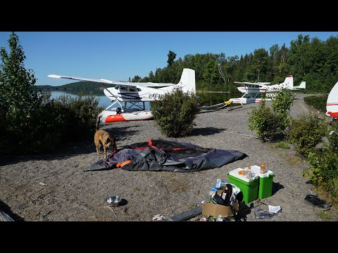 Airplane Camping Lady Evelyn Lake 2019