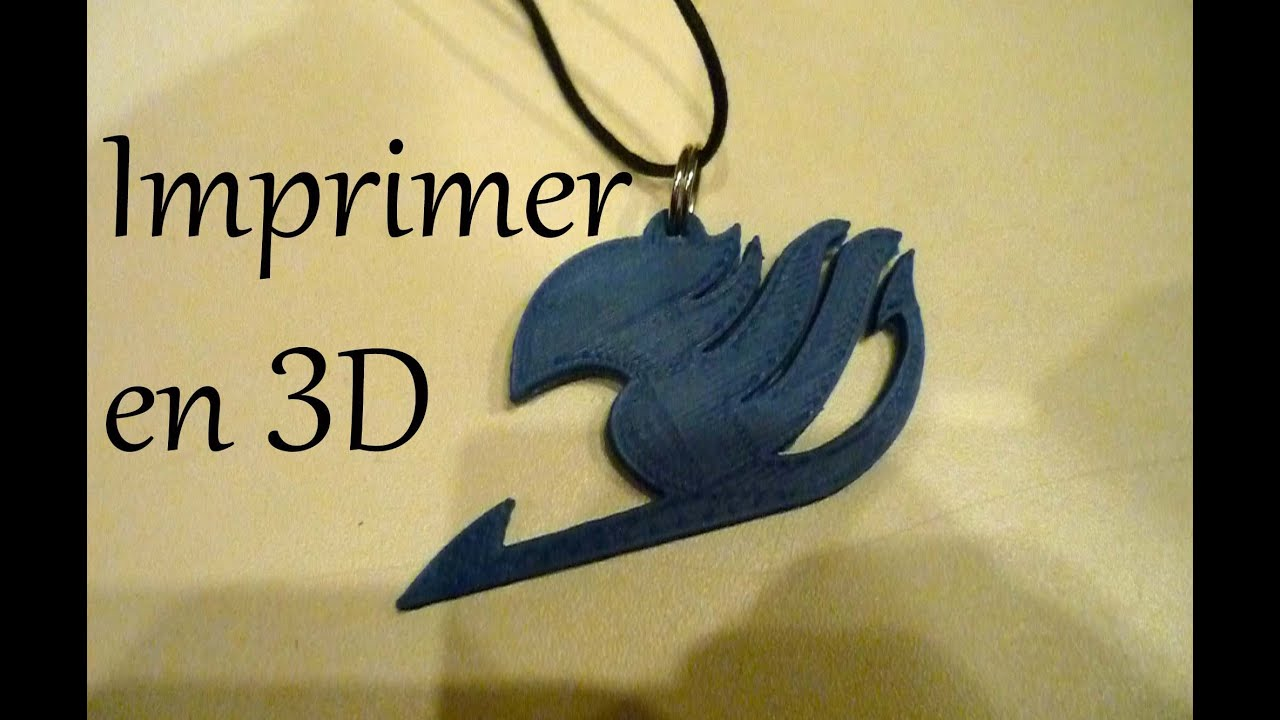 Imprimer En 3d Fairy Tail Logo Creation Artistique Youtube