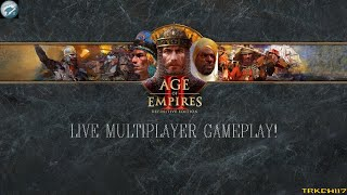 Age of Empires 2: Definitive Edition Online Ranked Multiplayer Gameplay LIVE! Ultra Graphics @60FPS