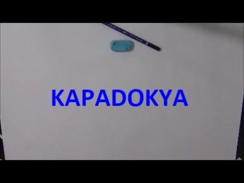 Fatih Kara Kalem Cizim Kapadokya Youtube
