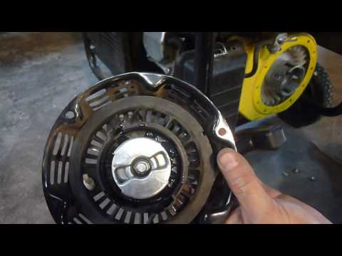 FIXING CHAMPION GENERATOR PULL CORD - YouTube