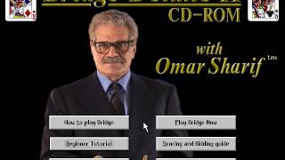 Bridge Deluxe II CD ROM with Omar Sharif PC Gameplay