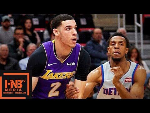 Los Angeles Lakers vs Detroit Pistons Full Game Highlights / March 26 / 2017-18 NBA Season