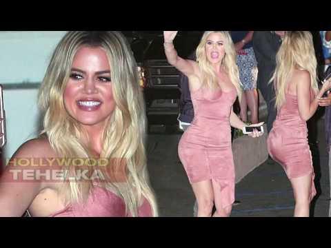 Khloe Kardashian Shows Off Her HOT Curves In Skin Tight Pink Dress thumbnail