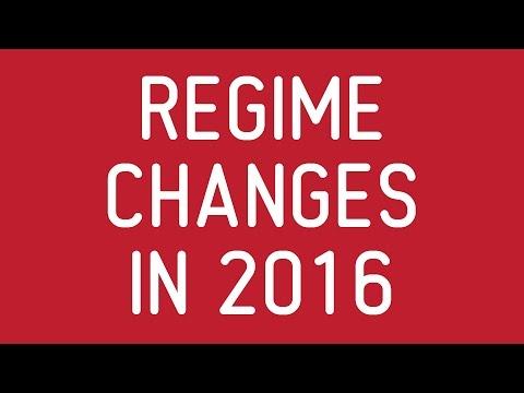 Regime Changes in 2016