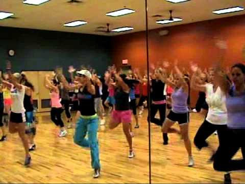 Zumba!!!  Shake it by Metro Station at Mountainside Fitness Center Julie Beauchamp 09 24 10
