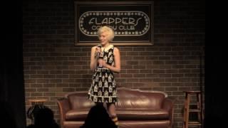 Ingrid Haubert at Flappers Comedy Club