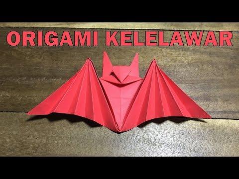 Origami Kelelawar: Cara Membuat Origami Hewan Kelelawar