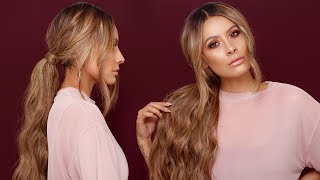 HOW TO LONG MESSY PONYTAIL | DESI PERKINS