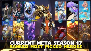 CURRENT META HEROES SEASON 17 AS OF THE MONTH OF AUGUST 2020 MOBILE LEGENDS TIER LIST MLBB META TIER