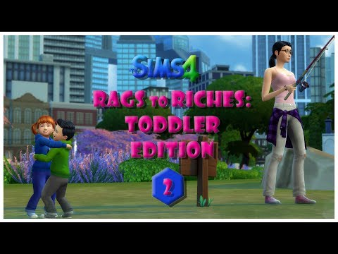 The Sims 4 / Rags to Riches:Toddler Edition Pt 2/ Bath Time